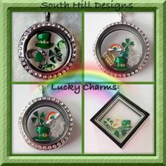 Lucky Charms San Patricks, Locket Charms, Lockets, Create Your Story, South Hill Designs, Luck Of The Irish, Lucky Charm, Origami Owl, Beautiful One