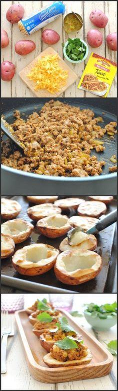 Turkey Potato Taco Bites
