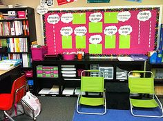 This second grade blog has great classroom set up ideas