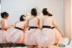 bridesmaids dresses from Bridgette + Cuong's Extravagant I Do! by ArdentStudio