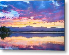 Colorful Sky Into The Rocky Mountain Night Metal #WallArt Print By James Bo  Insogna #insognaGallery #art