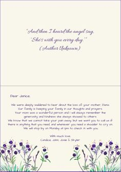 what to write in a sympathy card | Cardjdi org