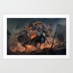 Viking werewolves Art Print by Whiluna - X-Small