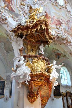Convent Church of Rottenbuch Art Et Architecture, Architecture Tattoo, Historical Architecture, Ancient Architecture, Beautiful Architecture, Beautiful Buildings, Architecture Details, Architecture Religieuse, Baroque Art