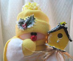 Snowman Decoration, Christmas Decoration, Stuffed Snowman, Snowman Ornament…