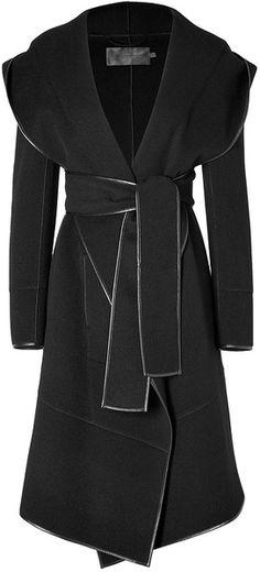 Donna Karan New York Cashmere #Coat in Black #fashion .♥✤ | KeepSmiling | BeStayBeautiful