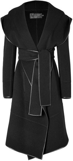 Donna Karan New York Cashmere #Coat in Black #fashion .♥✤ | KeepSmiling | BeStayBeautiful