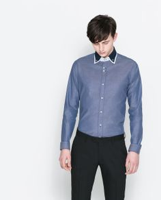 e33c1a3ba3 Image 1 of CONTRASTING STRUCTURED SHIRT from Zara
