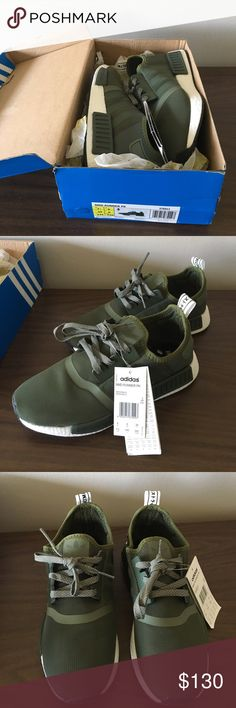 Adidas Olive Nmd UA Adidas Olive color NMD. These are Unauthorized meaning replica/fake. I bought these from a seller on Poshmark. Just want my money back. A little too tight for me. Pretty good fakes if you ask me! Adidas Shoes Sneakers