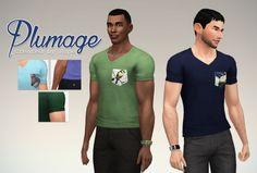 Plumage Tee | T-Shirt | by Rope via tumblr | Sims 4 | TS4 I Maxis Match | MM | CC