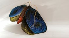 Moth brooch textile jewellery quirky accessories by ApisStudios