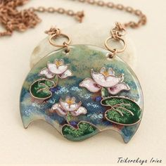 White lotus necklace flower jewelry water lily waterlily pendant botanical pendant enamel jewelry un Lotus Necklace, Lotus Jewelry, Enamel Jewelry, Jewelry Art, Flower Jewelry, Yoga Jewelry, Mermaid Pendant, Mermaid Jewelry, Handmade Jewelry