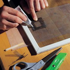 We'll show you a DIY fix for a torn window screen. It's fast, inexpensive and easy to do yourself. So stop dealing with the insects that are getting into your house and patch that screen!