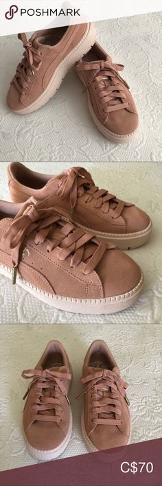 ⭐️Only worn once! In excellent condition. No marks on suede. *Smoke free and pet free home. Puma Platform, Platform Sneakers, Shoes Sneakers, Puma Suede, Plus Fashion, Fashion Tips, Fashion Trends, Pumas Shoes, Smoke Free