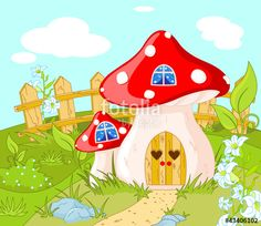 """""""House of Gnome"""" Stock image and royalty-free vector files on Fotolia.com - Pic 43406102"""