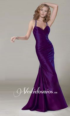 Halter Sirena Vestidos de Noche