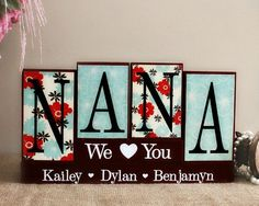 Personalized Handmade Gifts For Nana - Gifts for Her - Mothers Day Present - Nana Christmas Gift Idea - Mom Birthday Gift - Nana Wood Sign