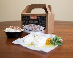 Burrata & Mascarpone DIY Cheese Kit- 8 batches (cow milk) by UrbanCheesecraft on Etsy https://www.etsy.com/listing/168455575/burrata-mascarpone-diy-cheese-kit-8