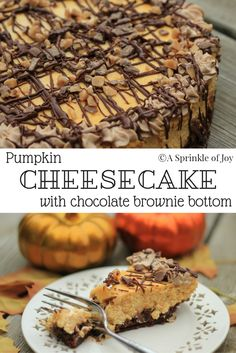 pumpkin. Try this yummy pumpkin cheesecake made with a brownie layer ...