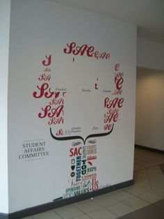 Decorative displays applied to Students Union - University of Central Lancashire
