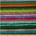 Africa Matchstick Repeating Stripe Lime/Multi