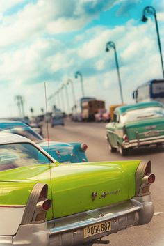 Classic Cars,  Old Havana, Cuba..Re-pin...Brought to you by #CarInsurance at #HouseofInsurance in Eugene, Oregon