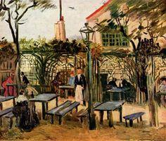 Vincent Willem van Gogh. Gartenlokal »La Guinguette« auf dem Montmartre. Um 1886, Öl auf Leinwand, 49 × 64 cm. Paris, Musée d'Orsay. Niederlande und Frankreich. Neo-Impressionismus. KO 01530