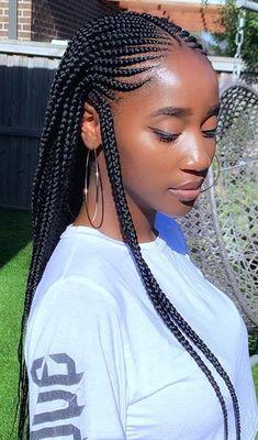 Cornrow Braided Hairstyles for Natural Hair: 50 Catchy .- Cornrow geflochtene Frisuren für natürliches Haar: 50 Catchy Cornrow Braids Fr… Cornrow Braided Hairstyles For Natural Hair: 50 Catchy Cornrow Braids Hairstyles Ideas To Try - Curly Hair Styles, Natural Hair Styles, Hair Braiding Styles Black, Natural African Hair, African Braids Hairstyles, Wig Hairstyles, Hairstyles 2018, African Hair Braiding, Hairstyle Ideas
