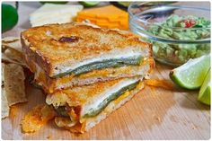 Jalapeno popper grilled cheese. yum.