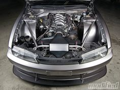 Nissan 240SX (S14) with Very Nicely Done LS Swap.