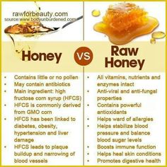 Processed honey vs. natural honey. I did not know this and I'm glad I do now.