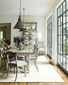 Awesome Farmhouse Dining Room Design Ideas – Best Home Decorating Ideas Dining Room Design, Dining Area, Dining Rooms, Dining Room Windows, Dinning Table, Dining Chairs, Modern Farmhouse, Farmhouse Table, Farmhouse Decor
