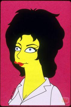 Even better version of a Simpsonized Liz Taylor