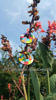 Happy painted earrings