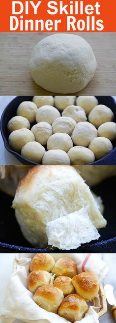 Skillet Dinner Rolls – the easiest and best homemade dinner rolls on skillet. Much better than store-bought and takes 60 mins Cast Iron Skillet Cooking, Skillet Bread, Iron Skillet Recipes, Cast Iron Recipes, Skillet Dinners, Skillet Food, Dinner Rolls Easy, Homemade Dinner Rolls, Homemade Dinners