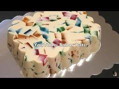 GELATINA DE MOSAICO - YouTube Gelatin Recipes, Jello Recipes, Mexican Food Recipes, Dessert Recipes, Desserts To Make, Sweet Desserts, Delicious Desserts, Yummy Food, Macaroon Recipes