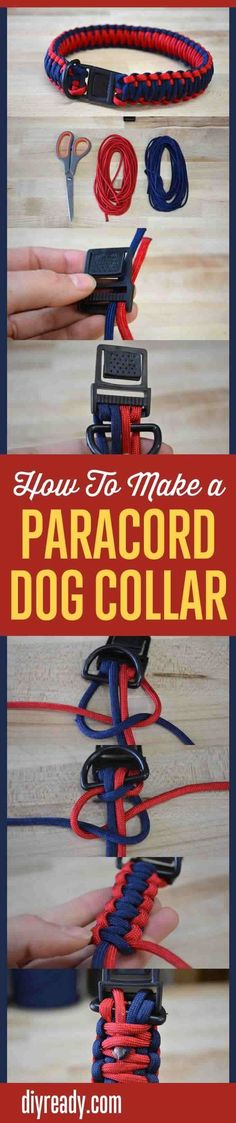 How To Make A Parcaord Dog Collar Easy DIY Crafts For Your Pet Instructions & Tutorial By DIY Ready. http://diyready.com/how-to-make-a-paracord-dog-collar-instructions/: