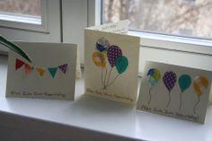 Sewn Birthday Cards!