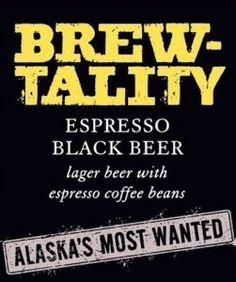 Cerveja Brewtality Espresso Black Bier, estilo Schwarzbier, produzida por Midnight Sun Brewing, Estados Unidos. 9.7% ABV de álcool.