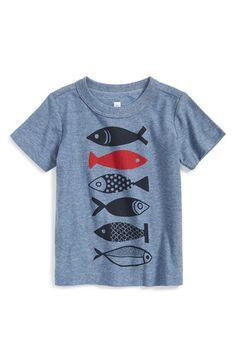 Tea Collection 'Stack of Sardines' Graphic Cotton T-Shirt (Baby Boys) available at #Nordstrom