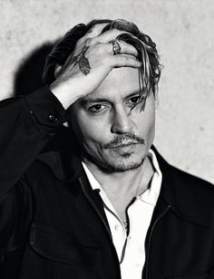 Johnny Depp, male actor, hand, sexy guy, steaming hot, intense eyes, eye candy, celeb, famous, portrait, photo b/w.