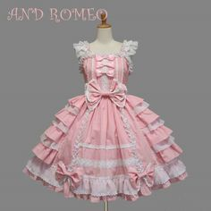New Women's Sweet Lolita Cosplay Costume Lace Gothic Dolly Dress Prom Lolita Pink Clothing. offers on top store Estilo Lolita, Lolita Cosplay, Maid Cosplay, Anime Cosplay, Kawaii Fashion, Lolita Fashion, Emo Fashion, Gothic Fashion, Fashion Dresses