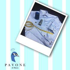Τρικολίνα Ιταλίας (βαμβάκι). Γιακάς Ημι-Rex,μανσέτα κοφτή. Κουμπί ξύλινο (ξεβαμμένο), κουμπότρυπα στο χρώμα του πουκαμίσου.