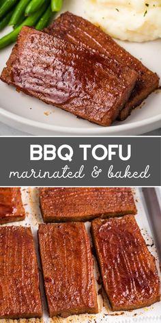 Tofu Recipes, Vegan Dinner Recipes, Vegan Recipes Easy, Baking Recipes, Vegetarian Recipes, Grilling Recipes, Chicken Recipes, Vegetarian Grilling, Dessert Recipes