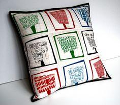 Summer Trees Pillow | By Lynne Goldsworthy www.fatquarterly.… | Flickr