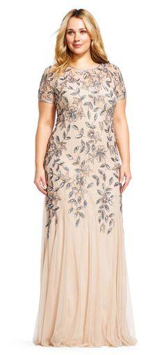 Вечерние платья для полных девушек и женщин американского бренда Adrianna Papell, лето 2017