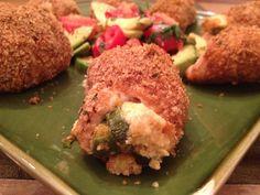 Jalapeno Popper Stuffed Chicken.  Weight Watchers Points + 6 ~ Calories247.9 ~ Fat 8.2 g ~ Carbs 11.5 g ~ Fiber 1.3 g ~ Protein 30.4 g