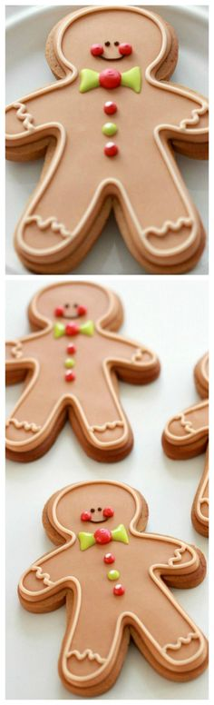 (Video & Recipe) How to Make Gingerbread Cut-Out Cookies & Decorate Gingerbread Men with Royal Icing Gingerbread Dough, How To Make Gingerbread, Christmas Gingerbread, Gingerbread Cookies, Gingerbread Recipes, Cut Out Cookie Recipe, Cut Out Cookies, Cookie Recipes, Christmas Cooking
