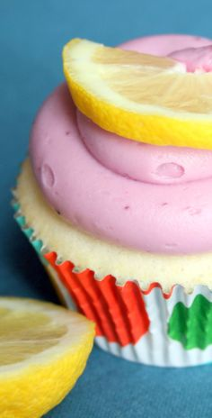 Lemon Cupcakes With Blackberry Cream Cheese Frosting