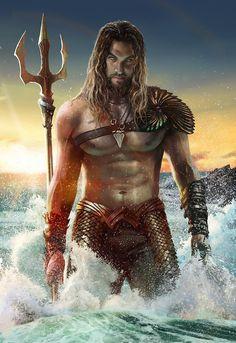 rahzzah:  Mamoa Aquaman by Rahzzah I'm most excited about Jason Mamoa being Aquaman
